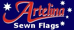 Flags and banners custom sewn in Brisbane by Artelina Sewn Flags - high quality - good value